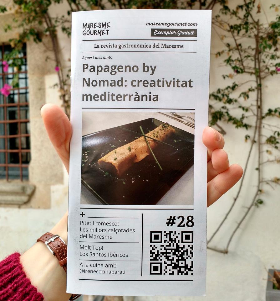 Portada de la nostra revista de febrer amb el restaurant Papageno by Nomad de Cabrera de Mar a la portada
