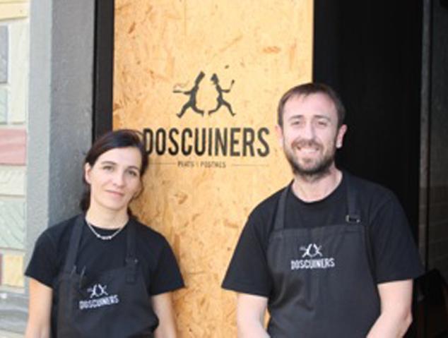 L'Oscar i la Maria del Mar, els propietaris del restaurant Dos Cuiners de mataró