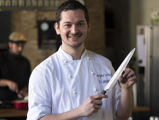 En Miquel Aldana, el xef del restaurant Tresmacarrons del Masnou