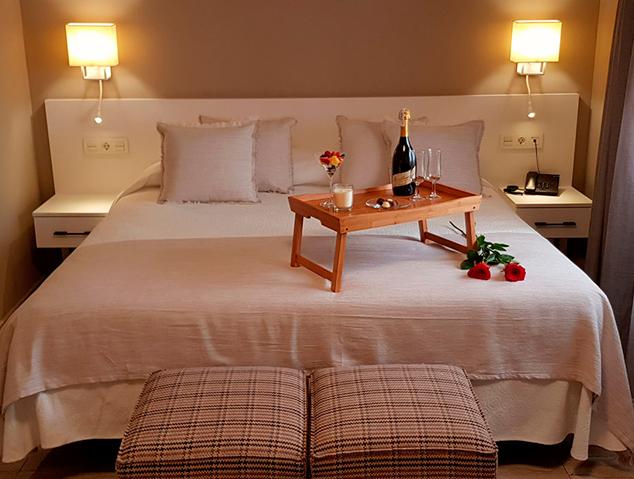 Una de les habitacions del New Hotel Colon de Mataró