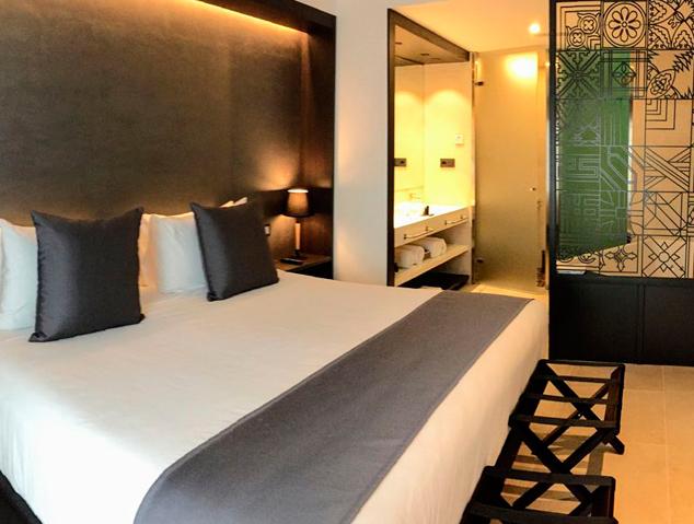 Una de les habitacions de l'Hotel Vila d'Arenys de Mar