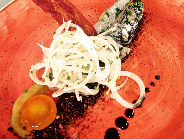 UN plat del restaurnat Els Garrofers d'Alella