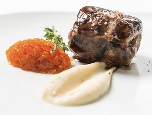 Un plat del restaurant Sorli Emocions de Vilassar de Dalt