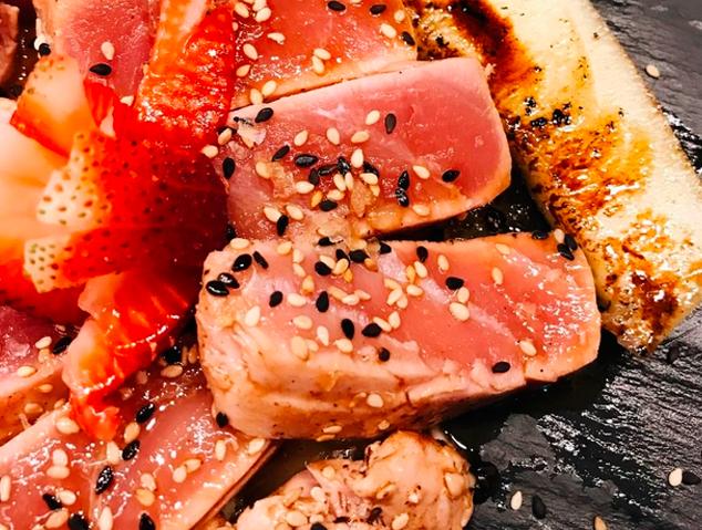 Tataki de tonyina de La Nova Fonda d'Argentona