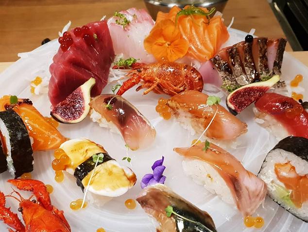 Taula de Sushi del restaurant Su.Cocina Japonesa de Mataró