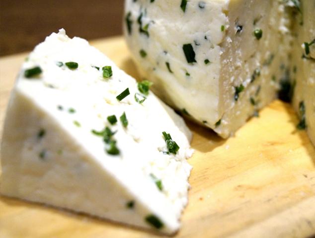 Talls de formatge cremòs