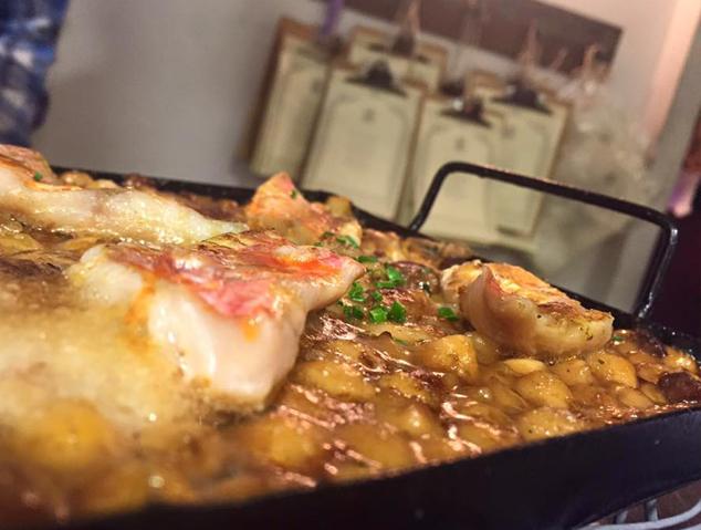 Un plat del restaurant La Marineta de Mataró