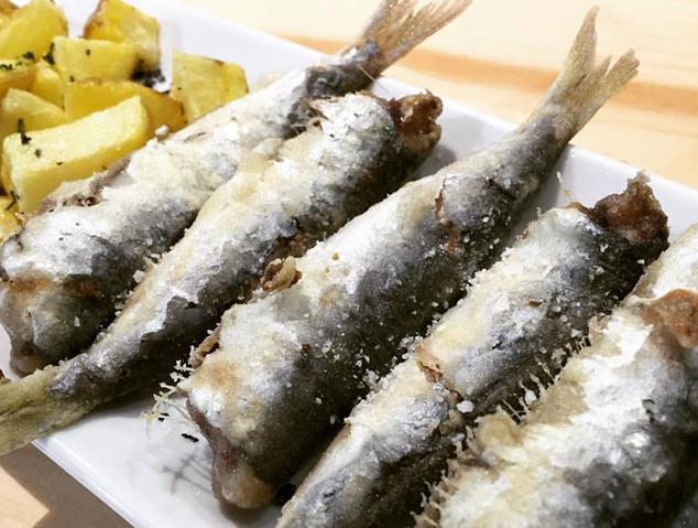 Un plat de sardines de la Do Alella