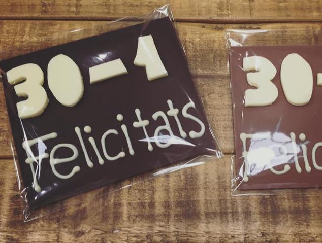 Missatges de Xocolata del Nibs taller de xocolata