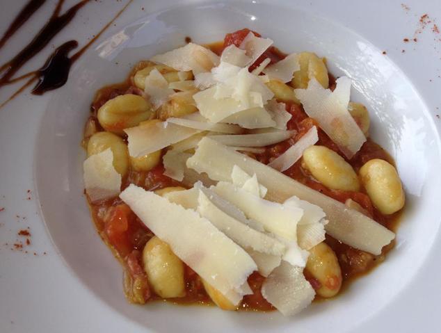 Un plat de pasta de la Pizzeria de l'Hort de Cabrils