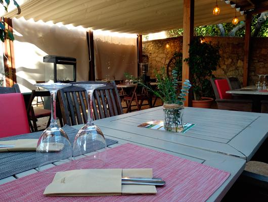 Exterior de la Pizzeria de l'Hort a Cabrils