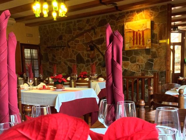 Menjador del restaurant Xeflis de Cabrils