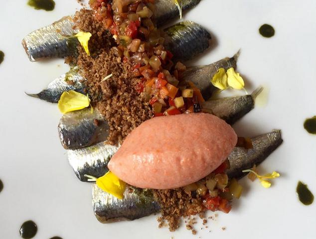 UN plat de sardines del restaurant els Garrofers d'Alella