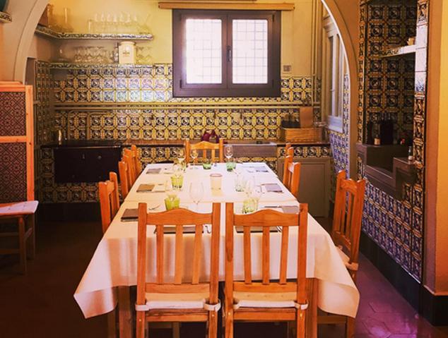 Interior del restaurant els Garrofers d'Alella