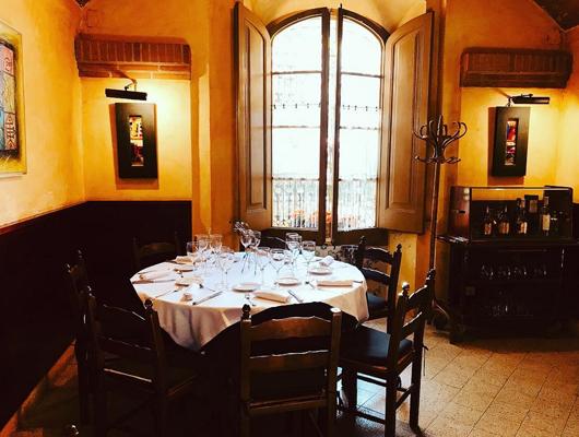 Interior del restaurant El Racó de Can Feliu de Vilassar de Dalt