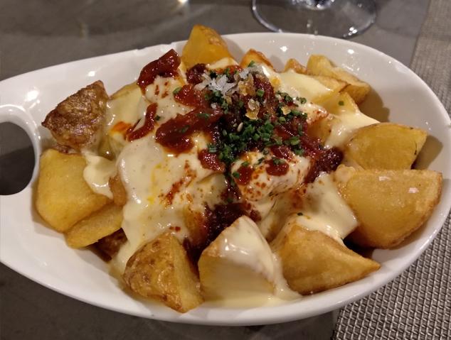 Patates braves del restaurant Dynamic de Caldes d'Estrac
