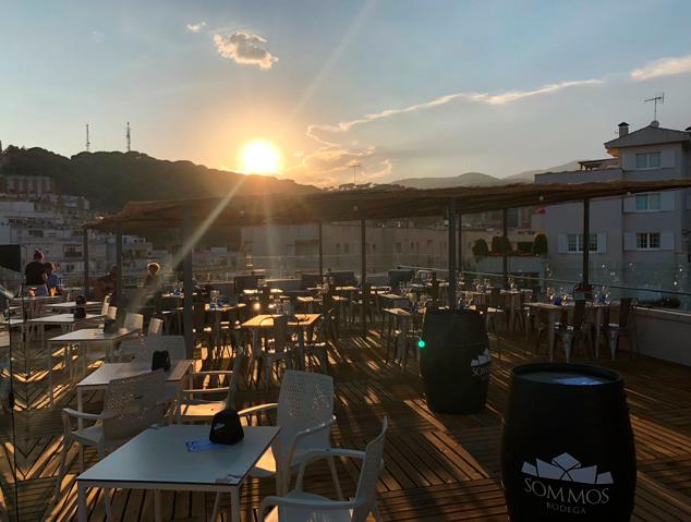 Una posta de sol al restaurant Dynamic de Caldes d'Estrac