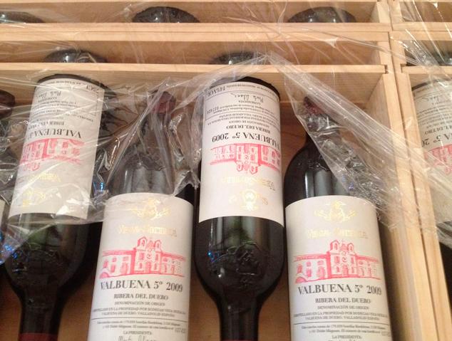Tres ampolles de Vega Sicilia