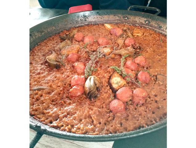 Arròs al carbò del restaurant Panoràmic Laietània de Mataró
