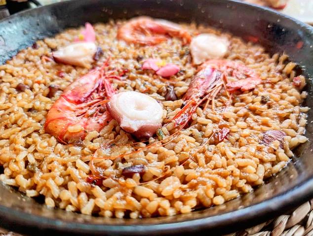 Un dels arrossos del restaurant Els Garrofers d'Alella