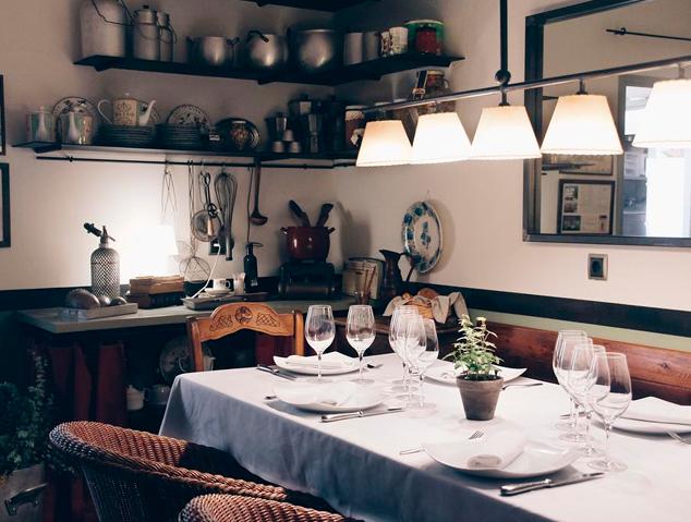 Menjador privat del restaurant Hostal de la Plaça de Cabrils