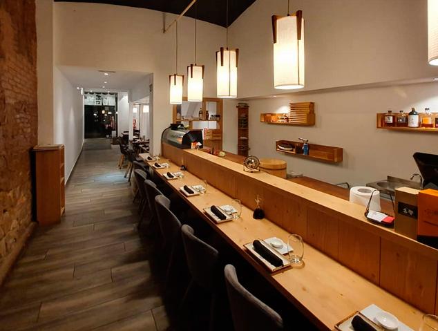 Barra japonesa del restaurant Su. de Mataró