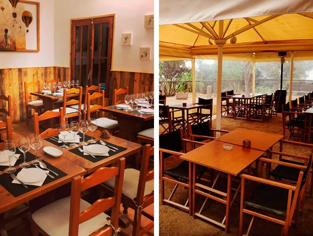Dos espais del restaurant Tarannà del Parc Forestal de Mataró
