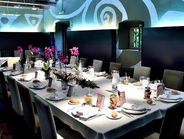 Un dels salons privats del restaurant Tempo de l'Hort de Cabrils