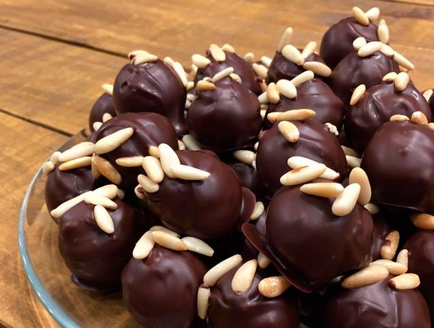 Uns bombons de xocolata