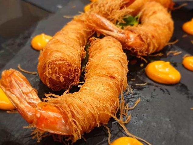 Un dels plats del restaurant MOT de Arenys de Mar