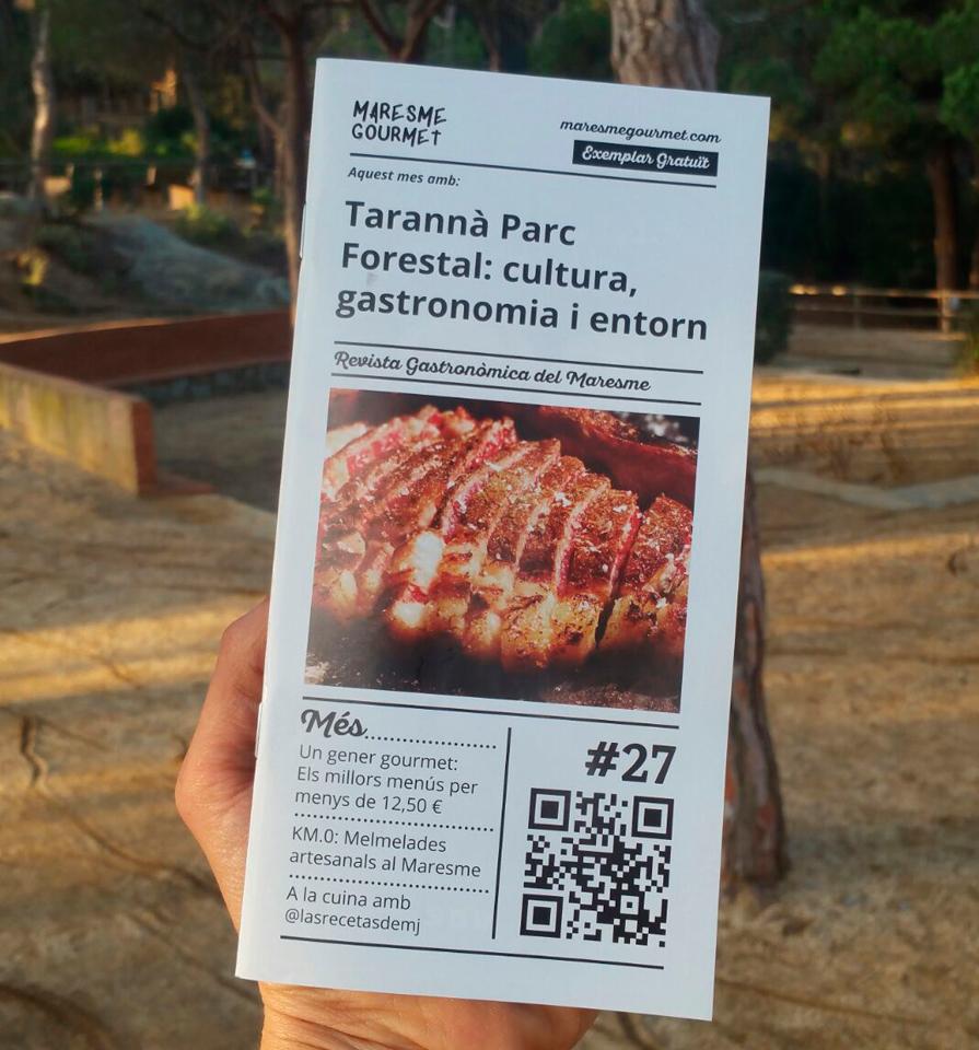 Portada de la nostra revista de Gener amb el restaurant Tarannà Parc Forestal com a protagonista