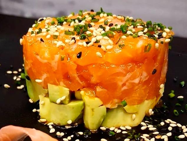 Un tàrtar de salmó del Yume Sushi & Oysters