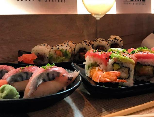 Un plat de Sushi del restaurant Yume Sushi & Oysters