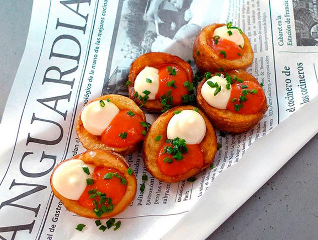 Les patates braves del restaurant La Marineta de Mataró