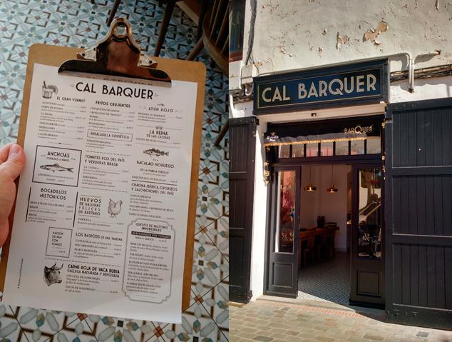 Carta i entrada del restaurant Cal Barquer d'Alella