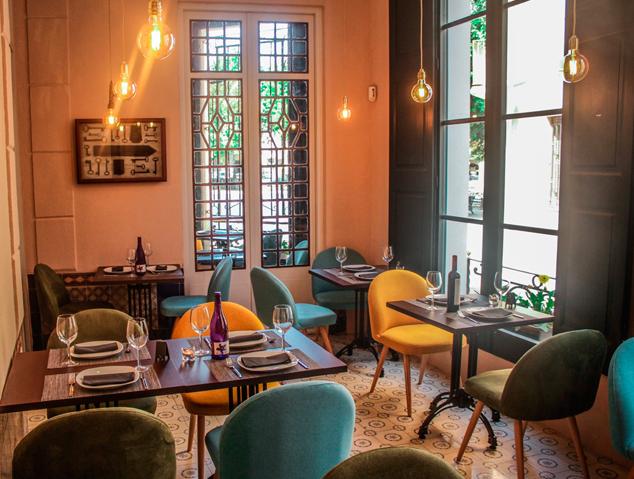 Menjador del restaurant El Palauet d'Arenys