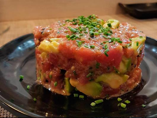 Un tàrtar de tonyina del Yume Sushi & Oysters