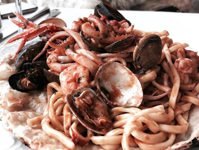 Un plat de pasta del Giò&Pòsit del Port d'Arenys de Mar