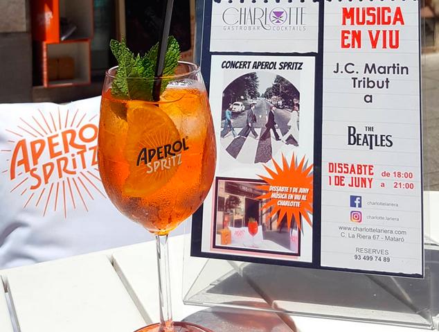Concerts de Jazz amb Aperol al Charlotte Gastrobar de la Riera de Mataró
