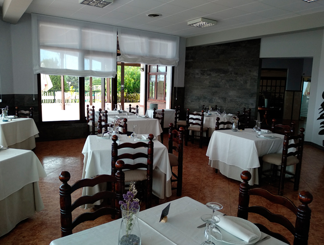 Interior del restaurant Panoràmic Laietània