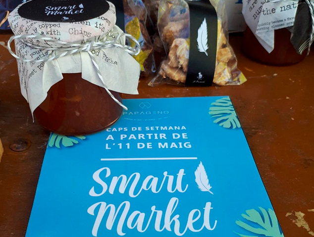 Cartell del Smart Market del restaurant Papaeno by Nomad de Cabrera de Mar