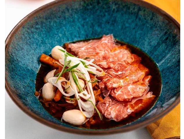 Un plat de l'Hostal de la Plaça a Cabrils