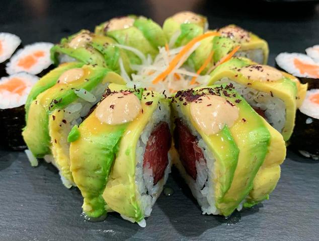 Uramaki Vilassar del restaurant Yume Sushi & Oysters de Vilassar de Mar