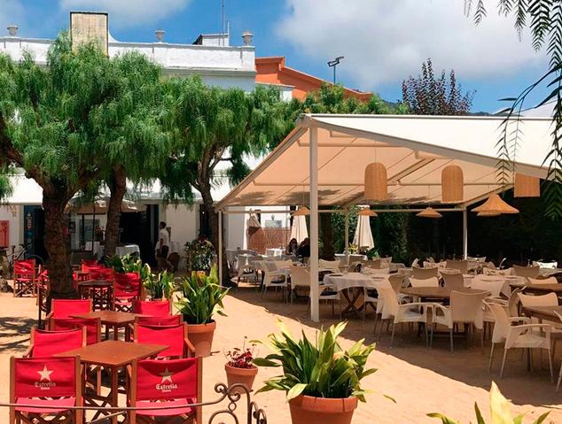 Terrassa del restaurant Can Rin de Cabrils