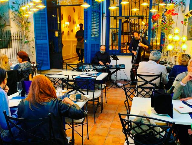 Jazz al restaurant Blau de Mar d'Arenys de Mar
