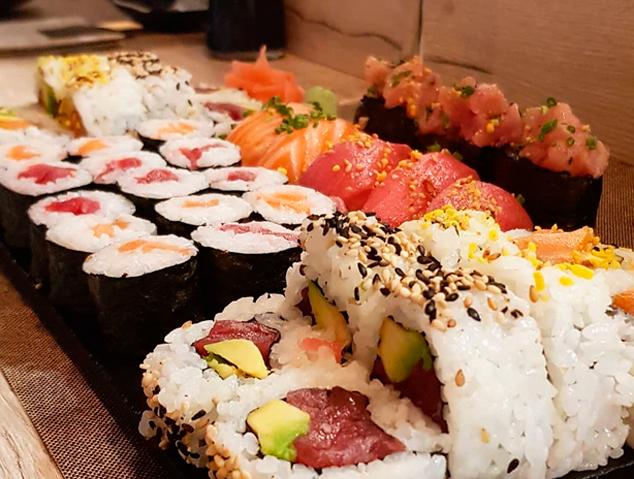 Taula de sushi del restaurant Yume Sushi & Oysters