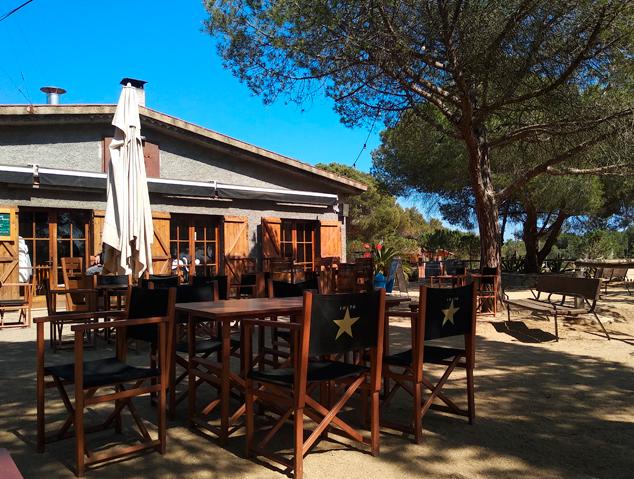 Terrassa del restaurant Tarannà Parc Forestal de Mataró