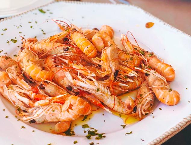 Un plat del restaurant El Portinyol d'Arenys de Mar