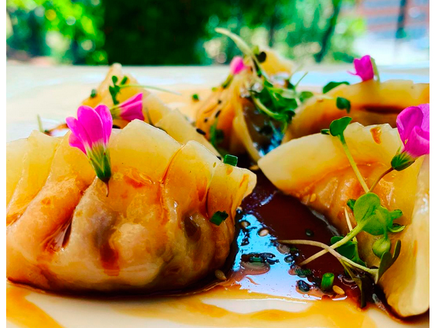 Un plat del restaurant Els Garrofers d'Alella