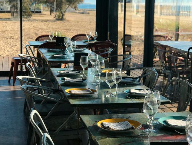Menjador hivern del restaurant Ostres! Quin Raconet de Caldes Estrac